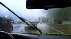 Trip in bad weather Stock Footage