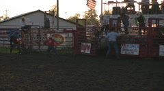 Bull Ride - Nice Ride, Bull chase, containment Stock Footage