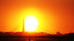 HD - Sunset in the City Stock Footage