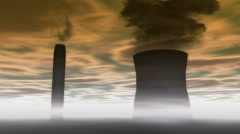Smoke Stacks Animation Stock Footage