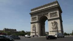 Arc de Triomphe, Paris - stock footage
