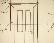 Technical Door Design Smooth Camera Pan and Zoom PAL Stock Footage