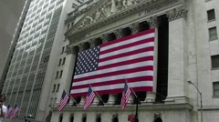Wall street new york stock exchange Stock Footage