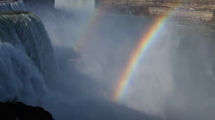 Niagara falls rainbow usa canada Stock Footage