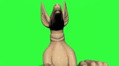 Jackel Statue Chroma Key Stock Footage