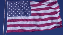 Flag Blowing in Wind 14 Stock Footage