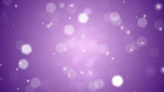 Purple Snow Lights Background Loop Stock Footage