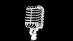 Retro Microphone Looping Alpha Channel Element R22 - stock footage
