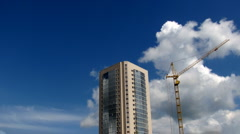 The building and the crane Stock Footage