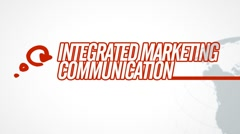 Integrated Marketing Communication video illustration on white in HD Stock Footage