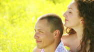Couples in love looking into the distance Stock Footage