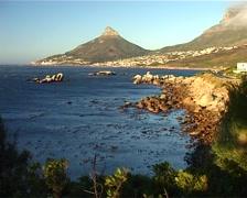 Stormy Coastline towards Lions Head, Cape Town GFSD Stock Footage