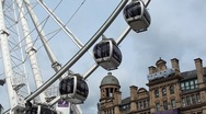 Stock Video Footage of Big Wheel - Manchester UK