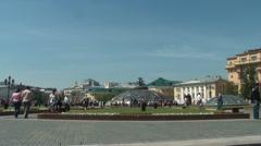 Manezhnaya Square Moscow Stock Footage