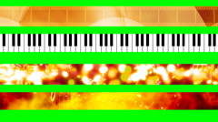 Music and Film Green Screen Abstract Looping Lower Thirds G2290 Stock Footage