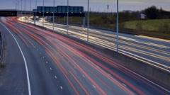 London. M25 Motorway. Dusk to Dark Time-lapse. Stock Footage