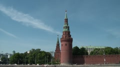 Kremlin Wall and Towers 3 Stock Footage