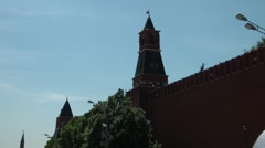 Kremlin Wall and Towers Stock Footage