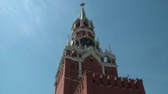 Kremlin's Spassky Tower Stock Footage