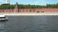 Stock Video Footage of The Boat Moves Along The Moscow River