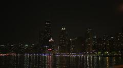 Urban Skyline Chicago at Night - stock footage