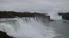Niagara falls usa canada Stock Footage