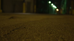 Urban Alley at Night Stock Footage
