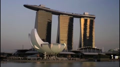 Marina Bay Sands Hotel and Casino, Singapore Stock Footage