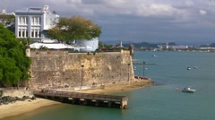 Puerto Rico - Santa Catalina Palace - Old San Juan Citiy Wall Stock Footage