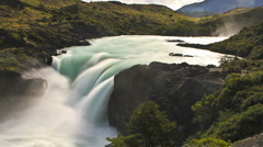 A waterfall in Patagonia. Stock Footage