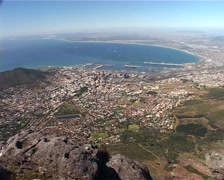 City Bowl zoom in from Table Mountain, Cape Town GFSD Stock Footage