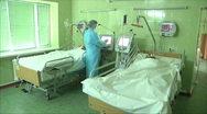 Nurse in the hospital ward patient 2 Stock Footage