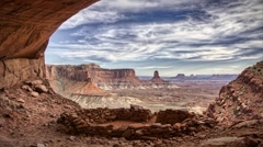 (1260l) Looping scenic canyon timelapse Anasazi ruins canyonlands moab utah Stock Footage