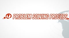 Problem Solving Process video illustration on white in HD - stock footage