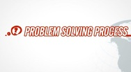 Problem Solving Process video illustration on white in HD Stock Footage