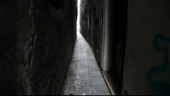 A walk through a venetian calle - stock footage