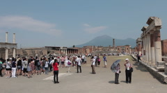 Pompei  Mount Vesuvius Fast TL HD 0648 Stock Footage