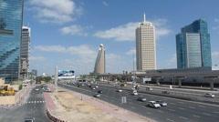 Dubai Heavy Traffic Stock Footage