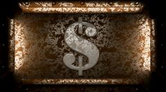 dolar metal stamp - stock footage