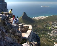 Tourists with Dassie 05, Cape Town GFSD Stock Footage