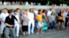 People dance in the street Stock Footage