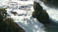 Rheinfall, Rhine Falls, aerial shot Part 3 Stock Footage