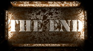 The end metal stamp Stock Footage