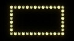 Lights Border Frame Loop - stock footage