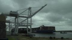 Cliffingham-cargo crane-photojpeg-ntsc Stock Footage