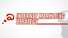 Internet Marketing Strategy video illustration on white in HD - stock footage