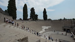 Pompei arena tourists Naples Italy P HD 0622 - stock footage