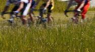 HD - Marathon. bicycle wheels Stock Footage