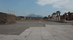 Pompei Mount Vesuvius P HD 0586 Stock Footage