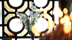 Candles in church - stock footage